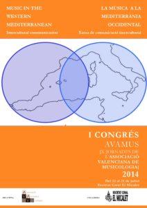 Cartell del I Congrés Internacional de Musicologia - AVAMUS